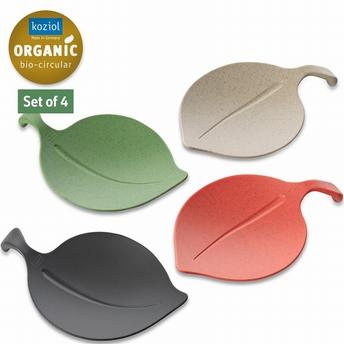afdekschaaltjes set/4  Leaf-on - Koziol