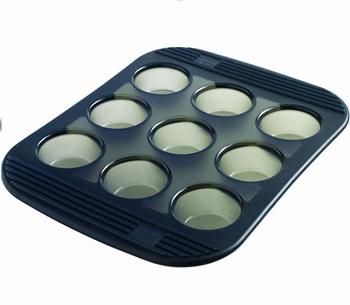 siliconen bakvorm 9 mini-muffins-Mastrad